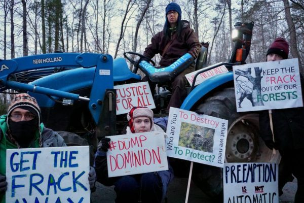 Young people take to the woods to stand against fracking.