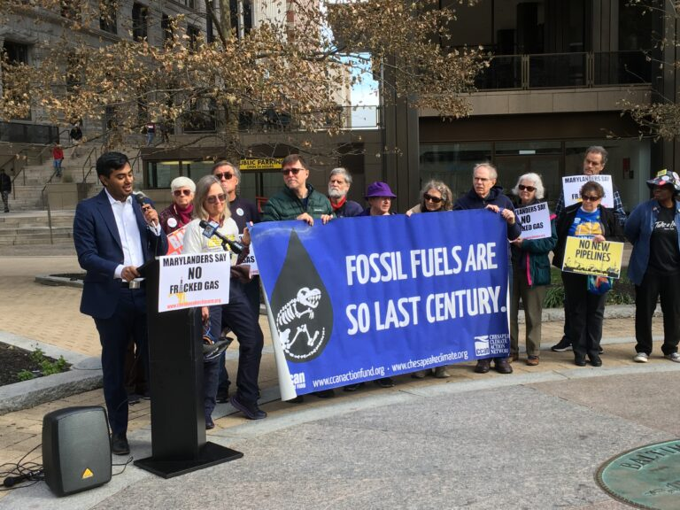 Activists Rally Against Governor Hogan's Fracked-Gas Plans Ahead of MEA Meeting