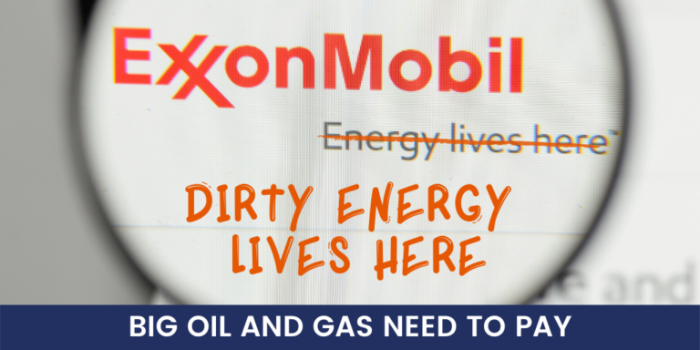 #ExxonKnew: Make Polluters Pay for Causing the Climate Crisis