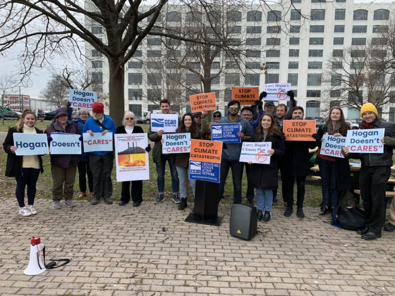 Activists Rally Against Governor Hogan's Inadequate Draft Climate Plan Ahead of Key MDE Meeting